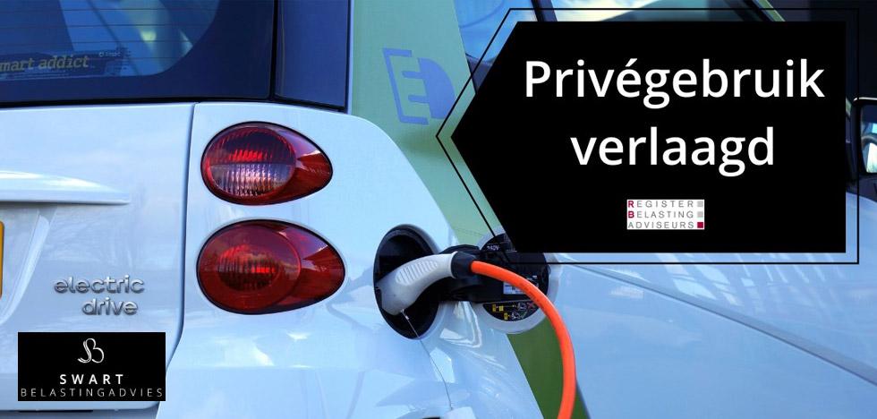 Bijtellingspercentage privégebruik elektrische auto